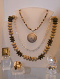A selection of jewels at Margaritas Gallery, Chania, Crete